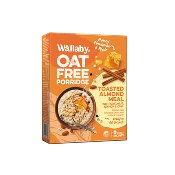 Wallaby Toasted Almond Meal - Honey Cinnamon & Apple 6*40g