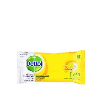Dettol Skin Wipes Fresh 10pcs