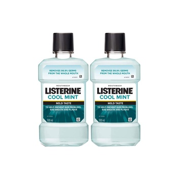 Listerine Mouthwash Cool Mint 500ml Pack Of 2