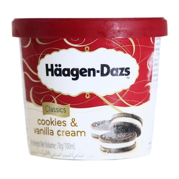 Haagen Dazs Cookies & Vanilla Cream Ice Cream 100ml