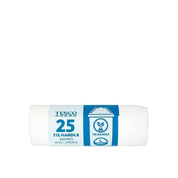 Tesco Tie-Handle Swing Bin Liners 25 Pack