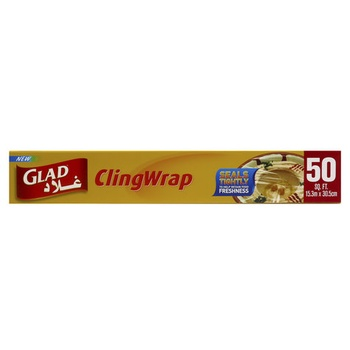 Glad Cling Wrap Loop 15.3 X 30.5 m 50 Sq. Ft.