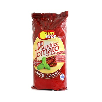 Sunrice Rice Cakes Thin Sundried Tomato 195g