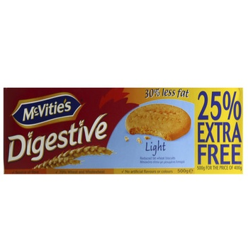 Mcvites Digestive Light 25%Gratis 500g