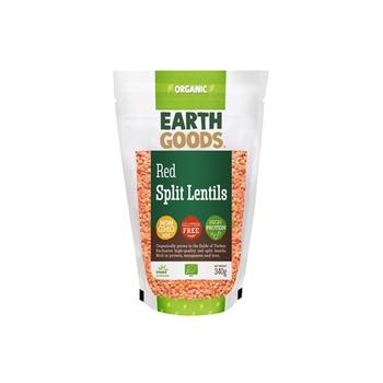 Earth Goods Organic Red Split Lentils 340g