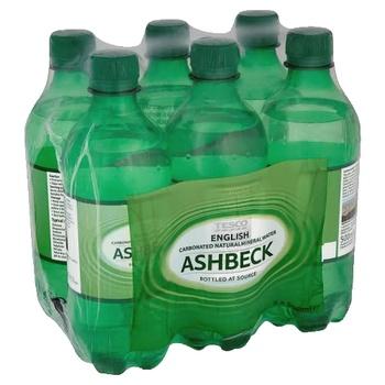 Tesco Ashbeck Sparkling Water 6 X 500 ml