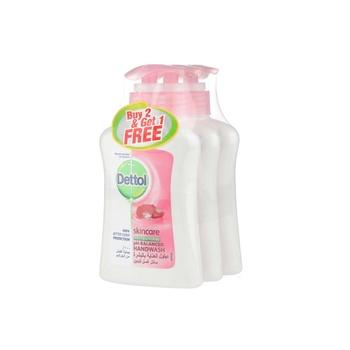 Dettol Skincare Handwash 2 x 200 ml + 200 ml Free