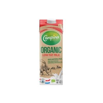 Campina Organic Milk Low Fat 1 ltr