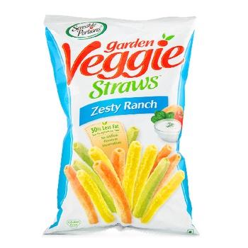 Sensible Portion Garden Veggie Straws Zesty Ranch 120g