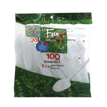 Al Bayader Plastic teaspoons 100pcs