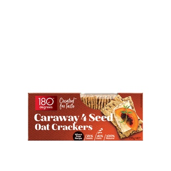 180 Degrees 4 Seed Oat Crackers - Caraway 135g