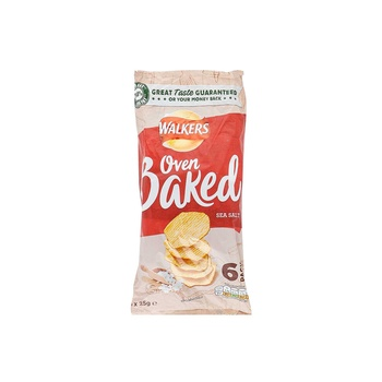 Walkers Baked Potato Chips Ready Salted 6 X 25g