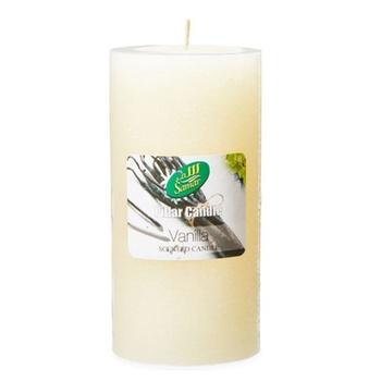 Samar Pillar Candle 7.5X15cm Ivory-Vanilla