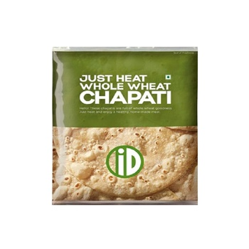 iD Just Heat Whole Wheat Chapati 390g