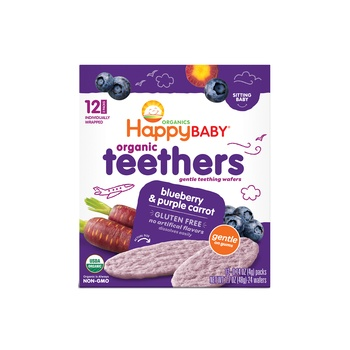 Happy Baby Organics Teethers Blue Berry and Purple Carrot 48g