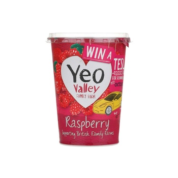 Yeo Valley Organic Yoghurt Raspberry 450g
