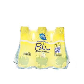 Oasis Blu Sparkling Lemon Water 6 x 250ml