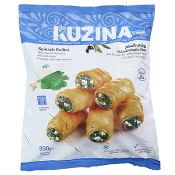 Kuzina Spinach Rollini With Greek Mizithra Dill & Onion 800g