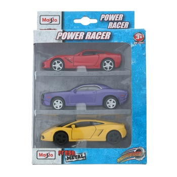 Maisto Power Racer -3 pcs Pack