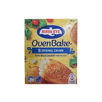 Birds Eye Oven Bake  6 Original Crumb Hoki Fish Fillets 425g