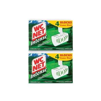 Wc Net Intense Solid Rim Block Mountain Fresh Bathroom Cleaner 2X4 Blocks