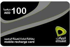 Etisalat Mobile Recharge Card 100 AED