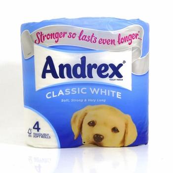 Andrex Toilet Tissue Classic White 4 pcs