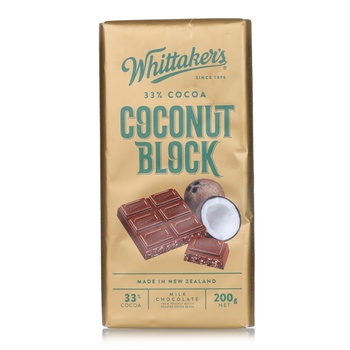 Whittakers Coconut Block Bar 200g