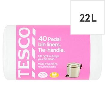 Tesco Handlepedal Bin Liners 22L 40 pack