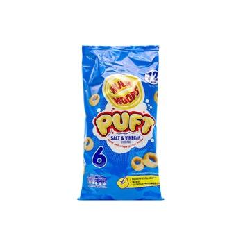 Hula Hoops Puff Salt Vinegar 6 Pack