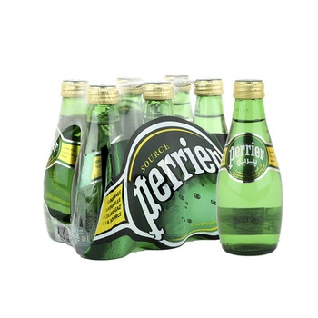 Perrier Natural Sparkling Mineral Water Glass Bottle 6X200 ml