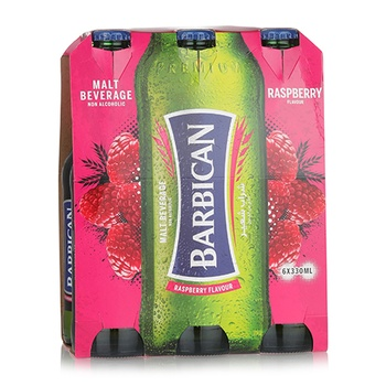 Barbican Non Alcoholic Malt Beverage Raspberry Flavor 6x330ml