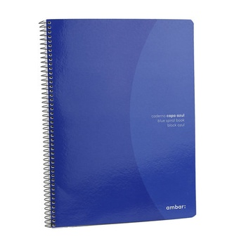 Ambar Spiral Note book Cover Blue - 80 Sheets