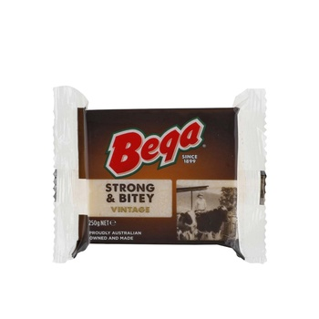 Bega Strong & Bitey Cheddar Block 250g