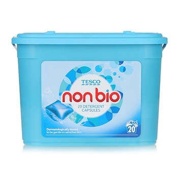 Tesco Non Bio Liquid Capsules Wash 20s
