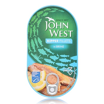 John West Kipper Fillet In Brine 160g