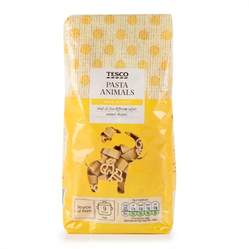 Tesco Goodness Pasta Animals 500g