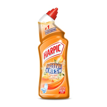 Harpic Toilet Bowl Cleaner Peach Jasmine 1ltr