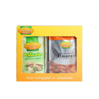 Goodness Foods Pista 175g + Almond 200g