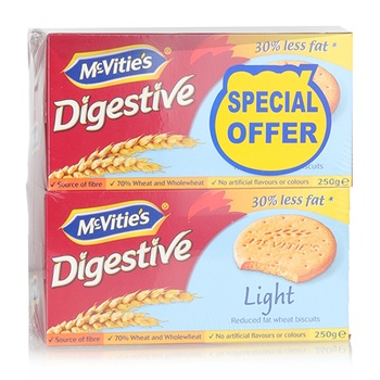 Mcvities Digestive Light 2x250g