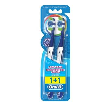 Oral-B Complete 5 Way Clean Toothbrush, Medium Bristles 2 Count