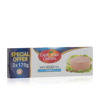 California Garden White Tuna Solid In Water Oil 3X170g @ 20% Off
