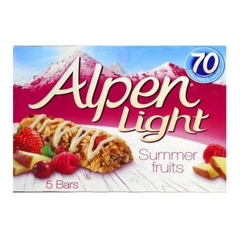 Alpen Breakfast Bar Light Summer Fruit 5 X 19g