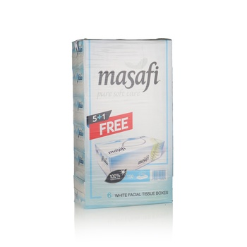 Masafi White 150 x 2 Ply Tissue Buy 5 get 1 FREE