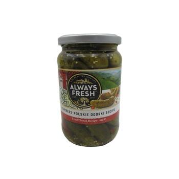 Always Fresh Polskie Ogorki Cucumbers 680g