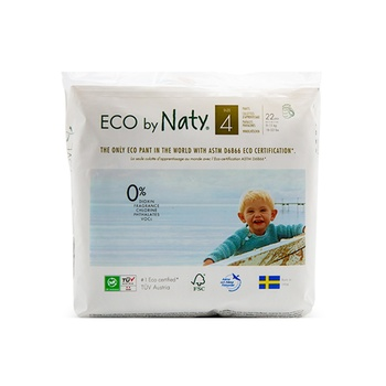 Naty Nature Babycare Pull On Pants Size 4 Carry Packs 22 Pants