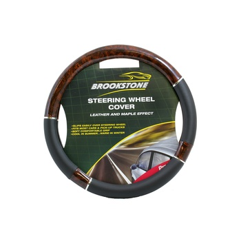 Brookstone Steering Wheel Cover Leather