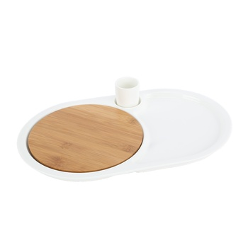 Home Selection Dinner Plate With Bamboo