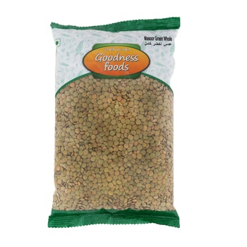 Goodness Foods Masoor Green Whole 1kg