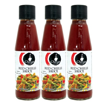 Chings Red Chilli Sauce 3x200g